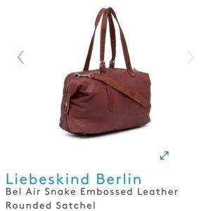 Liebeskind Berlin Snake Embossed Leather Satchel